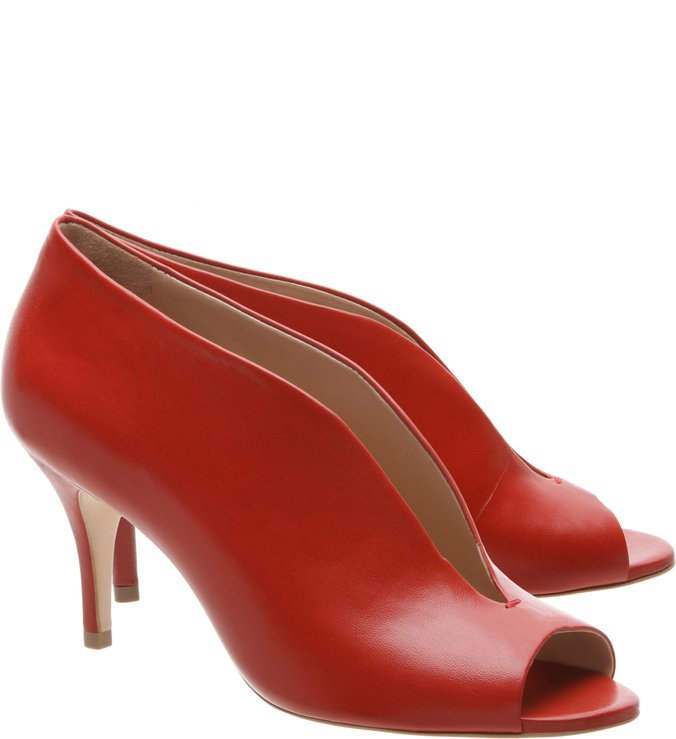 Gáspea Open Boot Cava Kitten Heel Red