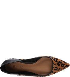Sapatilha Bico Fino Leopard Print Studs