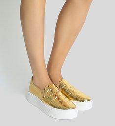 Tênis Slip-On Golden Croco