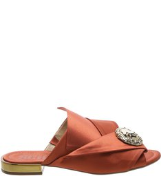 Flat Mule Jewelry Terracota