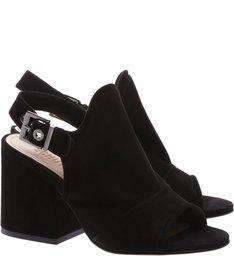 Sandália Block Heel Nobuck Black