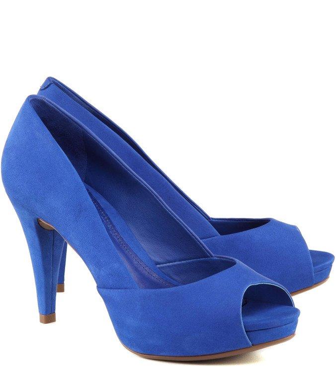 Peep Toe Classic Blue