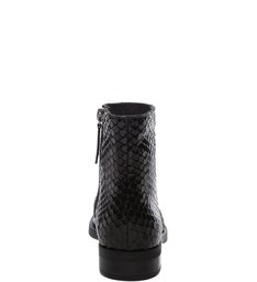Flat Boot Bright Snake Black