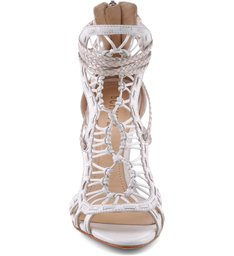 Sandália Lace High Heel Pearl