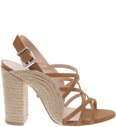 Sandália Curves Block Heel Desert