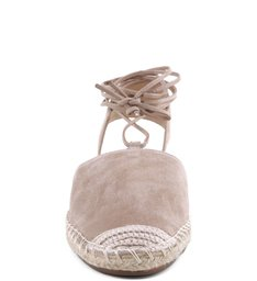Espadrille  Lace Up Nude