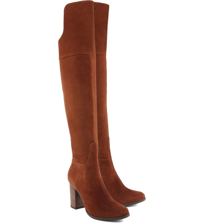Bota High Over The Knee  Wood