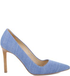 Scarpin High-Heel Jeans Blue