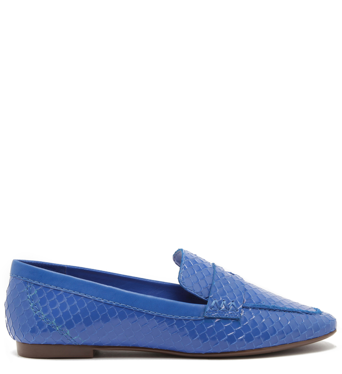 Mocassim Bright Snake Pop Blue | Schutz
