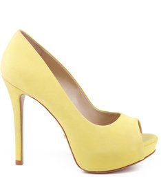 Peep Toe Glam Vibrant Yellow