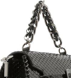Bolsa Maxi Fivela Bright Snake Black