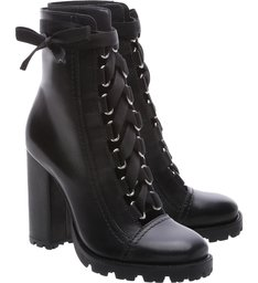 Combat Boots Sola Tratorada Leather Black