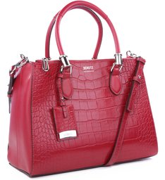 Tote Lorena Croco Red