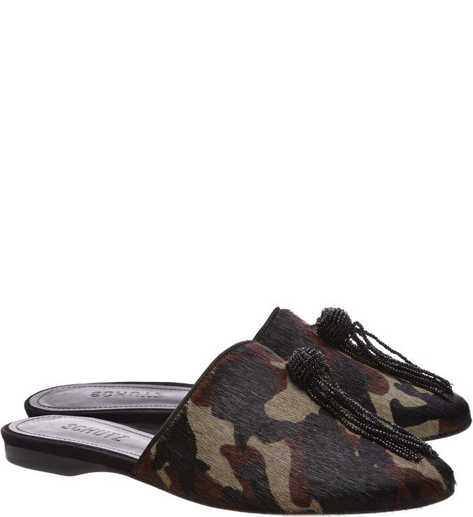Flat Mule Camouflage Tassel