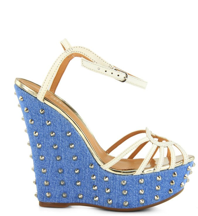 Anabela Jeans Spikes