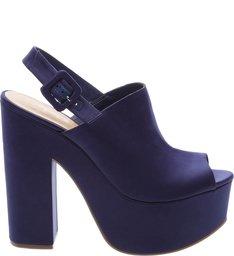 Sandália Satin Plataforma Dress Blue