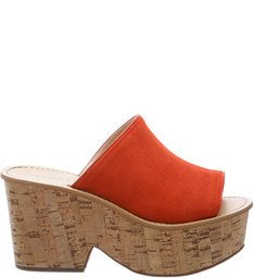 Cut Out Sandals Nice Orange