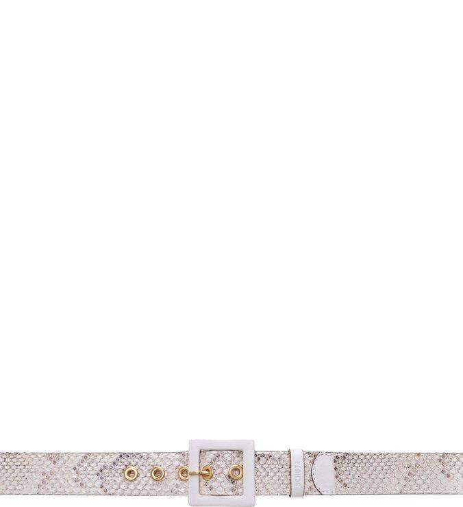 Cinto Croco White
