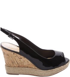 Wedge Slingback Black
