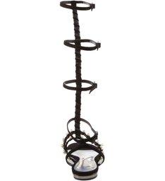 Gladiadora Flat Pearls Black