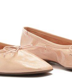 Sapatilha Ballerina Verniz Pink