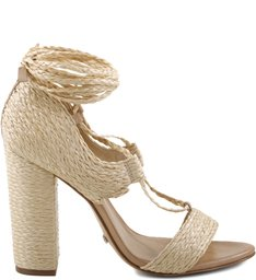 Sandália Lace Up Natural - Us Spring Collection