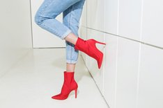 Stretch Boots Scarlet