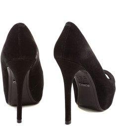Peep Toe  Classic Black Nobuck