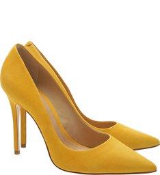 Scarpin Clasic Nobuck Yellow