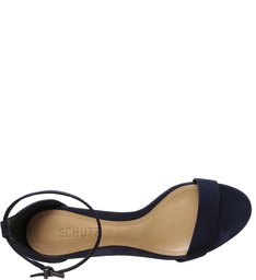 Sandália Minimal Block Heel Nobuck Deep Blue