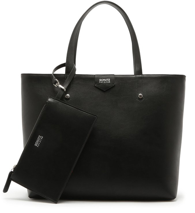 Shopping Bag Meg Pocket Black | Schutz