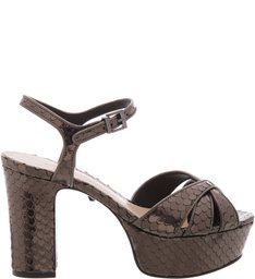 Sandália Bold Block Heel Medium Croco