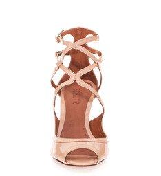 Sandália Salto Baixo Peach