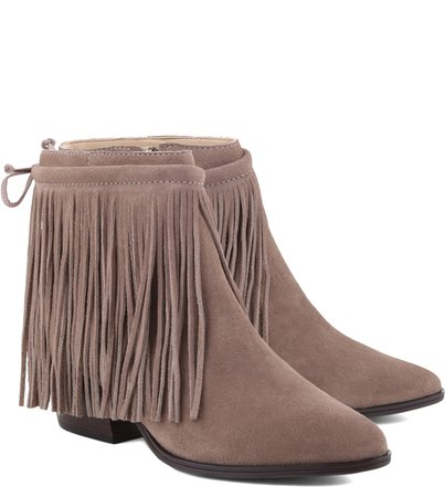 Bota Natural Folk Fringes Goat