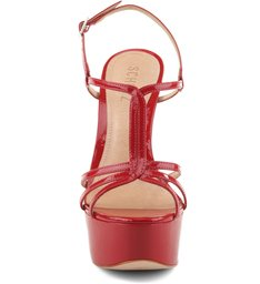 Sandália Thin Stripes Red