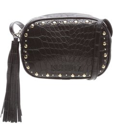 PRÉ-VENDA BEST SELLER Baby Crossbody Kate Croco Black