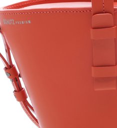 Basket Bag Mickey Leather Bright Red