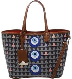 Mini Shopping Nina Triangle Eye Black