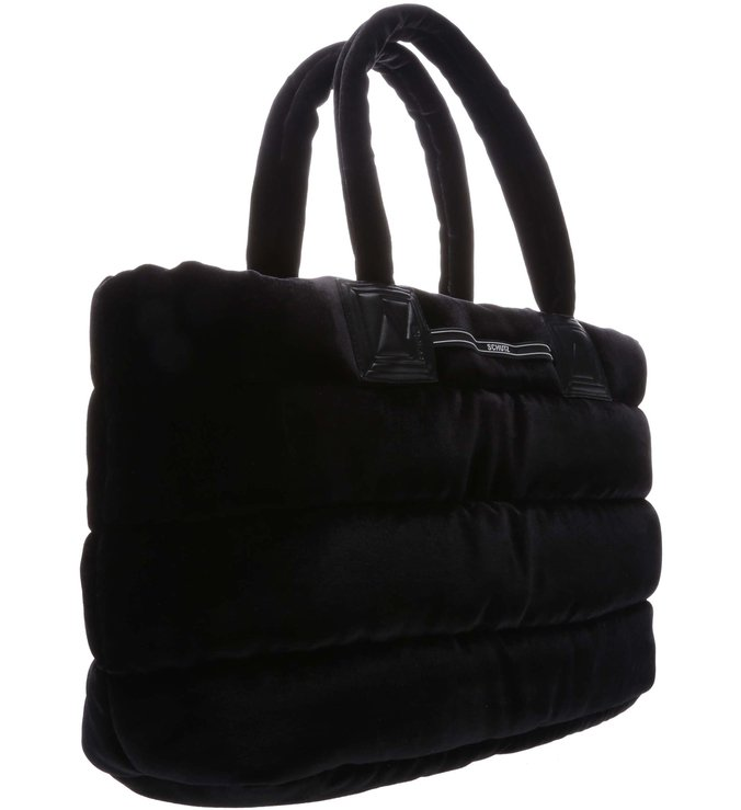 Shopping Bag Nylon Fluffy Black