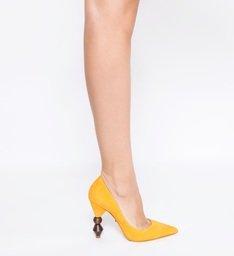 Scarpin Statement Heel  Yellow