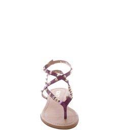 Sandália  Verniz Metalizado