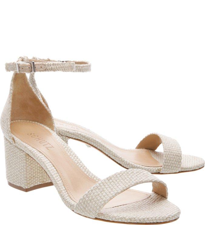 Sandália Minimal Block Heel Neutral
