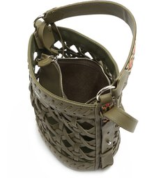 BUCKET BAG MINI TRAMA GREEN