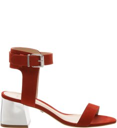 Sandália Metallic Heel Minimal Red