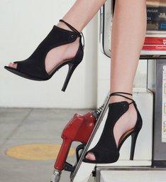 Sandália Salto Knit Black