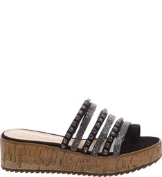 Flatform Cortiça Thin Strips Black