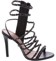 Sandália Fancy Strips Black