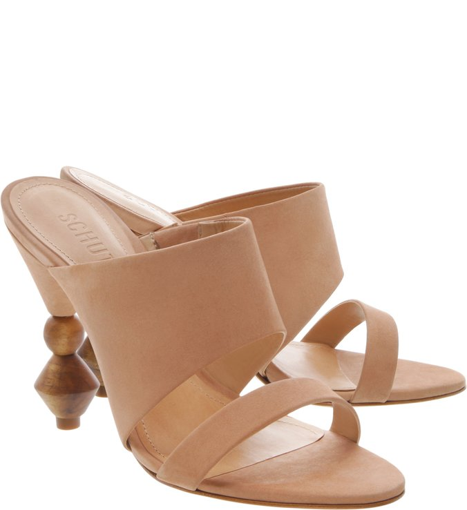 Mule Statement Heel Cut-Out Honey
