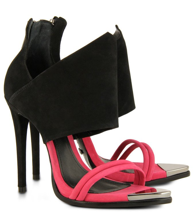 Sandália Special Preta/Pink