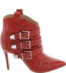 Bota Western Studs High Heel Scarlet